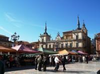 Mercado de productos agrarios de la Plaza Mayor